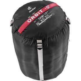 Deuter Orbit -5° Sleeping Bag long cranberry-steel